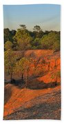Red Sunset Cliffs Bath Towel
