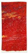 Red Surf On The Beach Bath Towel