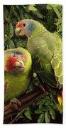 Red-tailed Amazon Amazona Brasiliensis Bath Towel