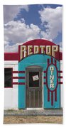 Red Top Diner On Route 66 Bath Towel