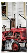 Red Tracktor Bath Towel