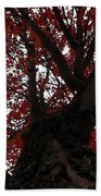 Red Tree Bath Towel