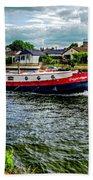 Red Tug Boat Bath Towel