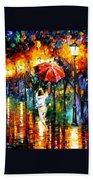 Red Umbrella Bath Towel