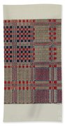 Red, White & Blue Coverlet Bath Towel