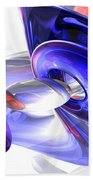 Red White And Blue Abstract Bath Towel