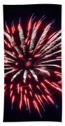 Red White And Blue Fireworks Bath Towel