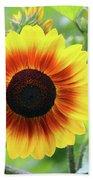 Red Yellow Sunflower Bath Towel