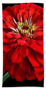 Red Zinnia Bath Towel