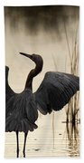 Reddish Egret Bath Towel