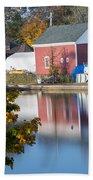 Redd's Pond Boathouse Marblehead Ma Massachusetts Bath Towel