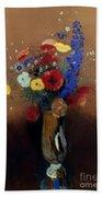 Redon: Wild Flowers, C1912 Hand Towel