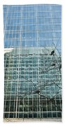 Reflected Buildings Bath Towel