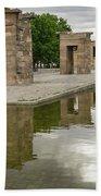 Reflecting On Millennia - Egyptian Temple Of Debod In Madrid Spain  Bath Towel