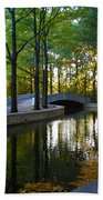 Reflecting Pool Roosevelt Park Hand Towel