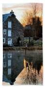 Reflection At Wagner Mill Bath Towel