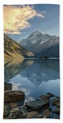 Reflection Of Aoraki Bath Towel