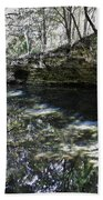 Reflections At The Grotto Bath Towel