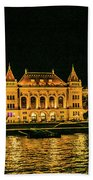 Reflections From Budapest University Bath Towel