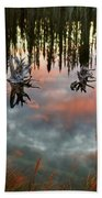Reflections Off Pond In British Columbia Bath Towel