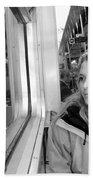 Reflections On A London Train Bath Towel