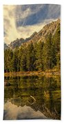 Reflections On Jenny Lake Bath Towel