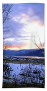 Reflections On Lake Okanagan Bath Towel