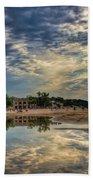 Reflections On The Beach Bath Towel