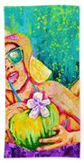 Moment In Paradise, Vacation Painting Bath Towel