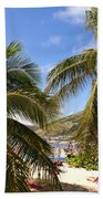 Relaxing On The Beach. Pinel Island Saint Martin Caribbean Bath Towel