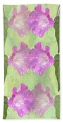 Repeated Morning Glories Hand Towel