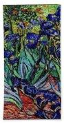 replica of Van Gogh irises Bath Towel