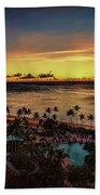 Resort Sunset Bath Towel by Ray Shiu