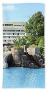 Resort With Swimming Pool Summer Vacation Scene Bath Towel