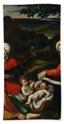 Rest On The Flight Into Egypt Hand Towel