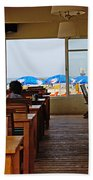 Restaurant On A Beach In Tel Aviv Israel Bath Towel