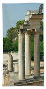 Restored Roman Columns In Glanum Bath Towel