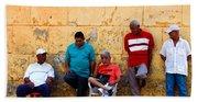Retired Men And Yellow Wall Cartegena Bath Towel