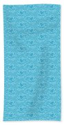 Retro Blue Pattern Bath Towel