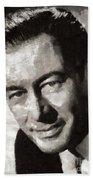 Rex Harrison, Vintage Hollywood Legend Bath Towel