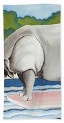 Rhino In La Bath Towel