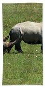 Rhino Mother And Calf - Kenya Hand Towel