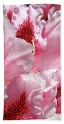 Rhodies Pink Fine Art Photography Rhododendrons Baslee Troutman Bath Towel
