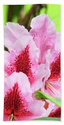 Rhododendron Floral Art Prints Rhodies Flowers Canvas Baslee Troutman Bath Towel
