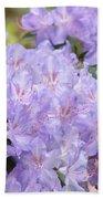 Rhododendron Floral Flowers Lavender Purple Prints Baslee Bath Towel