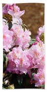 Rhododendron Flower Garden Art Prints Canvas Pink Rhodies Baslee Troutman Bath Towel
