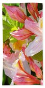 Rhododendrons Garden Floral Art Print Pink Rhodies Bath Towel