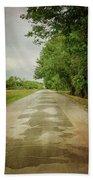 Ribbon Road - Sidewalk Highway Bath Towel