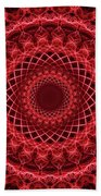Rich Red Mandala Bath Towel