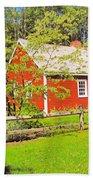 Richard Hunnewell House, Scarborough Maine Bath Towel